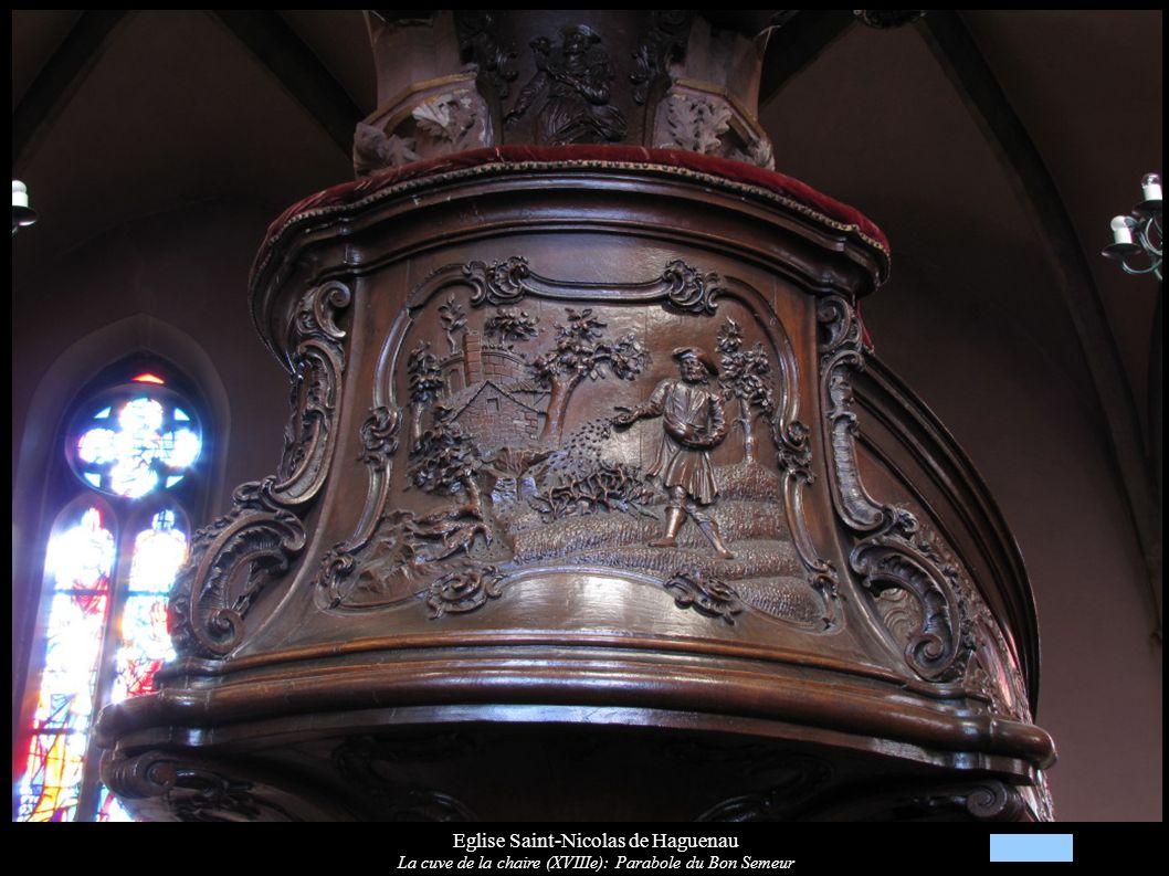 Eglise Saint-Nicolas de Haguenau La cuve de la chaire (XVIIIe): Parabole du Bon Semeur