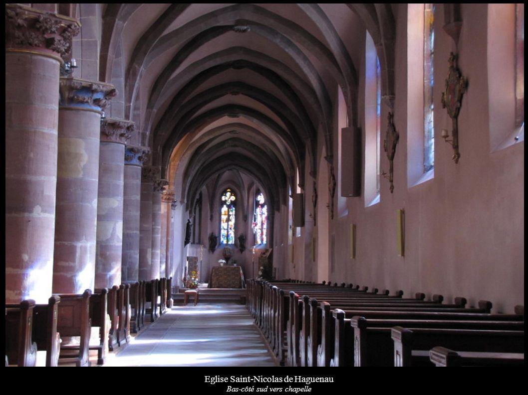 Eglise Saint-Nicolas de Haguenau Bas-côté sud vers chapelle