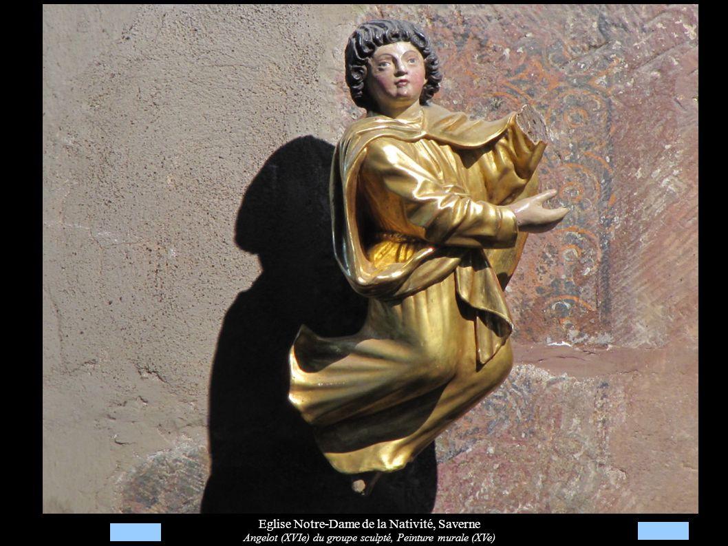 Eglise Notre-Dame de la Nativité, Saverne Angelot (XVIe) du groupe sculpté, Peinture murale (XVe)