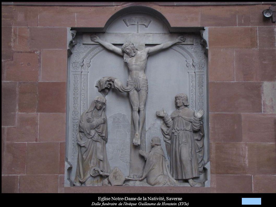 Eglise Notre-Dame de la Nativité, Saverne Dalle funéraire de l'évêque Guillaume de Honstein (XVIe)