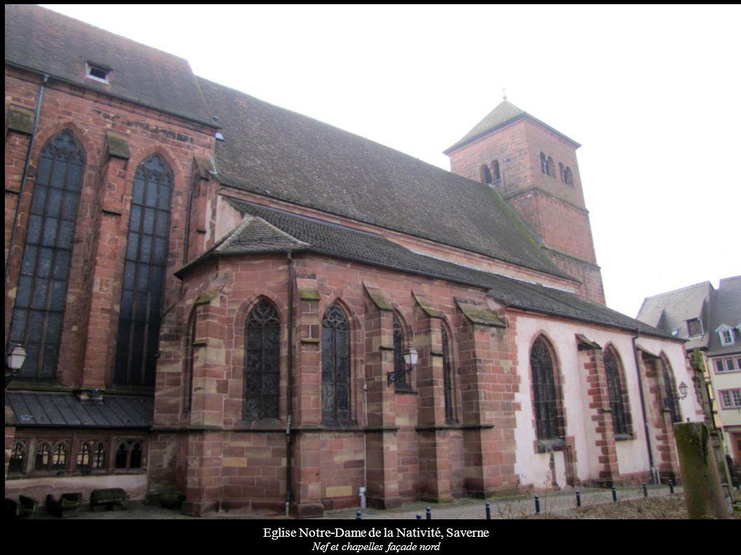 Eglise Notre-Dame de la Nativité, Saverne Nef et chapelles façade nord