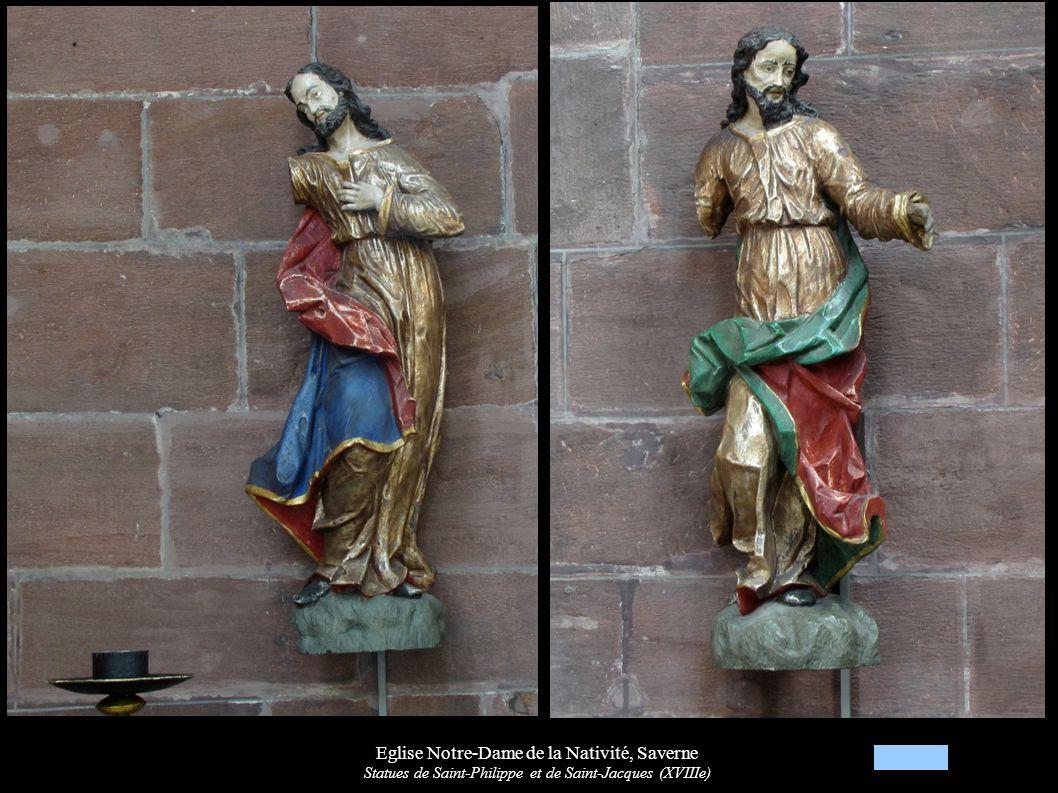 Eglise Notre-Dame de la Nativité, Saverne Statues de Saint-Philippe et de Saint-Jacques (XVIIIe)