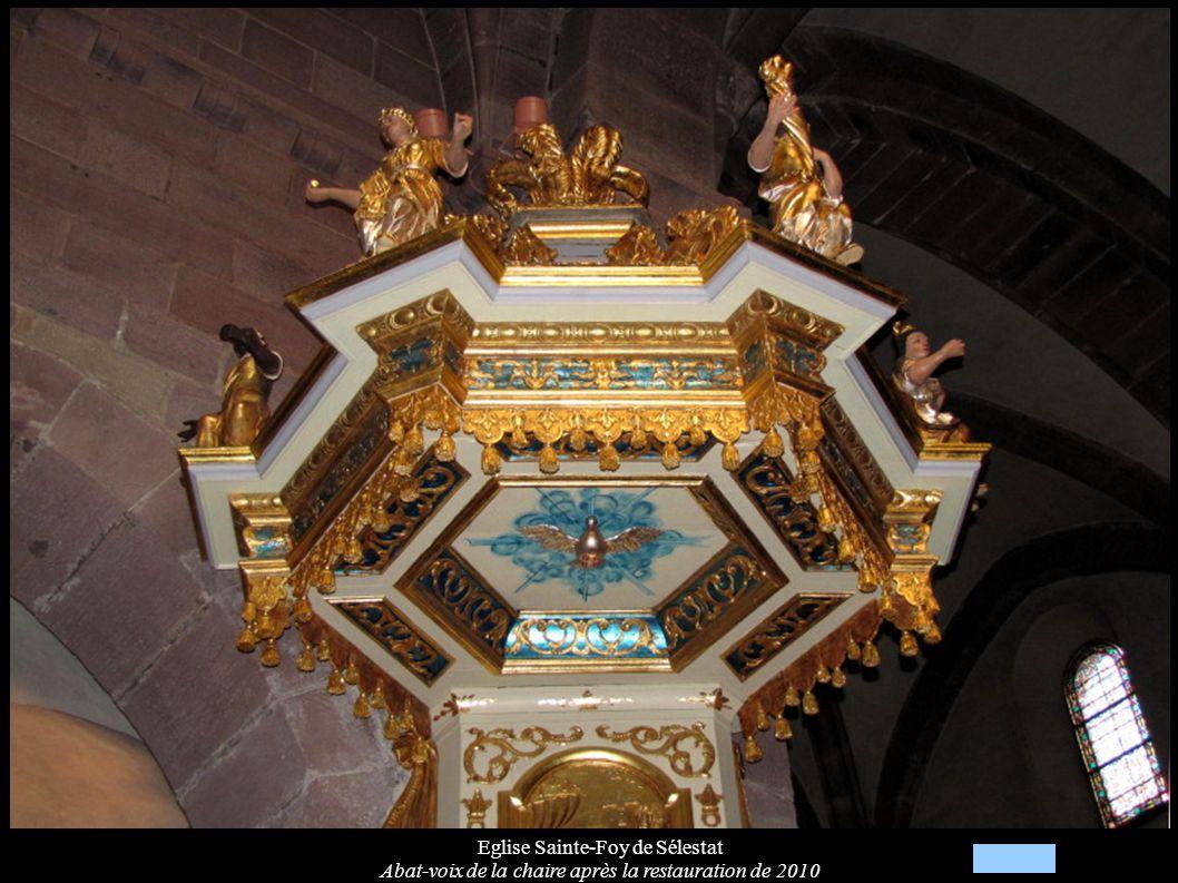 Eglise Sainte-Foy de Sélestat Abat-voix de la chaire après la restauration de 2010