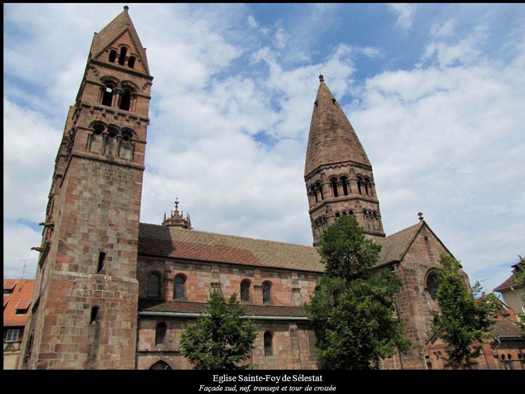 Eglise Sainte-Foy de Sélestat Façade sud, nef, transept et tour de croisée