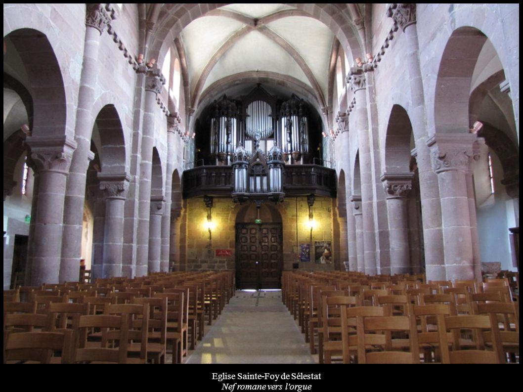 Eglise Sainte-Foy de Sélestat Nef romane vers l'orgue