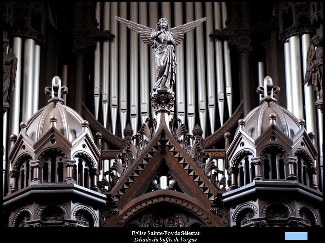 Eglise Sainte-Foy de Sélestat Détails du buffet de l'orgue