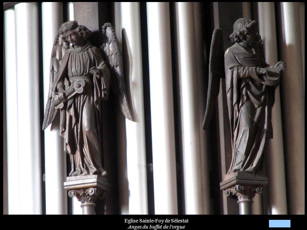 Eglise Sainte-Foy de Sélestat Anges du buffet de l'orgue