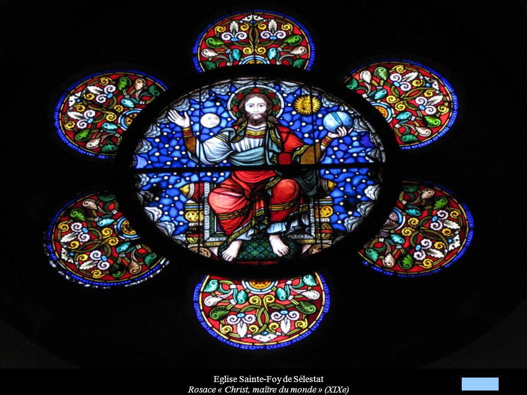 Eglise Sainte-Foy de Sélestat Rosace « Christ, maître du monde » (XIXe)