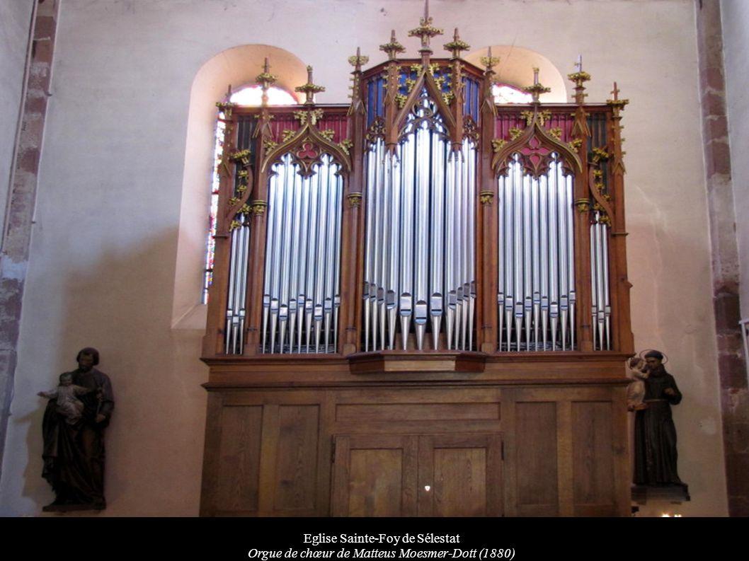 Eglise Sainte-Foy de Sélestat Orgue de chœur de Matteus Moesmer-Dott (1880)