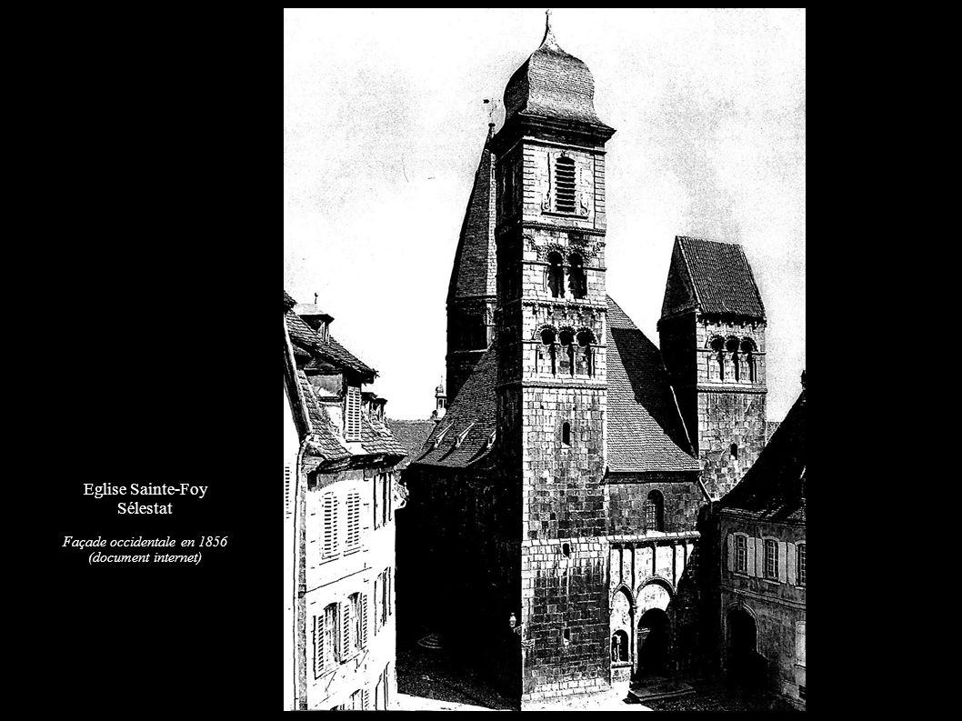 Eglise Sainte-Foy Sélestat Façade occidentale en 1856 (document internet)