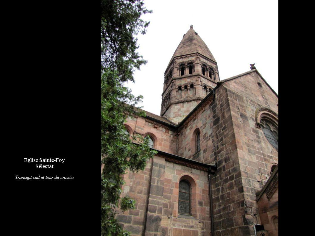 Eglise Sainte-Foy Sélestat Transept sud et tour de croisée