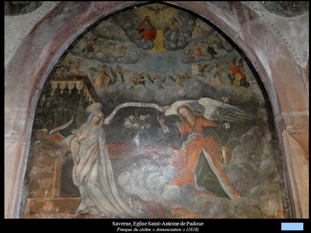 Saverne, Eglise Saint-Antoine de Padoue Fresque du cloître « Annonciation » (1618)