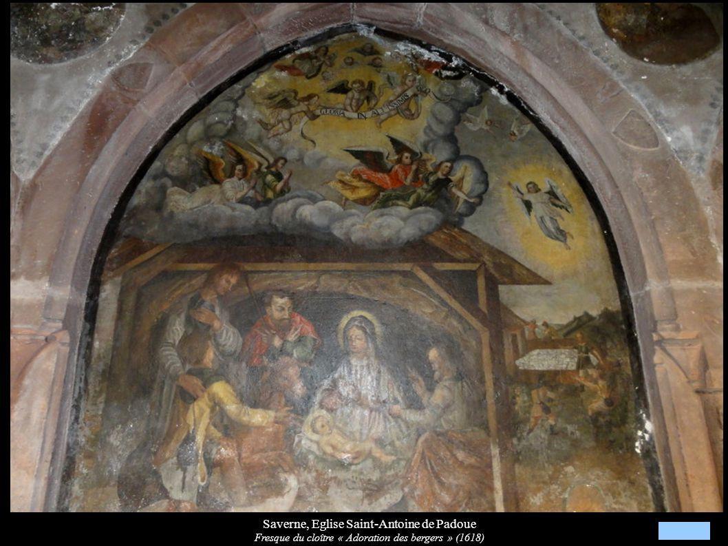 Saverne, Eglise Saint-Antoine de Padoue Fresque du cloître « Adoration des bergers » (1618)