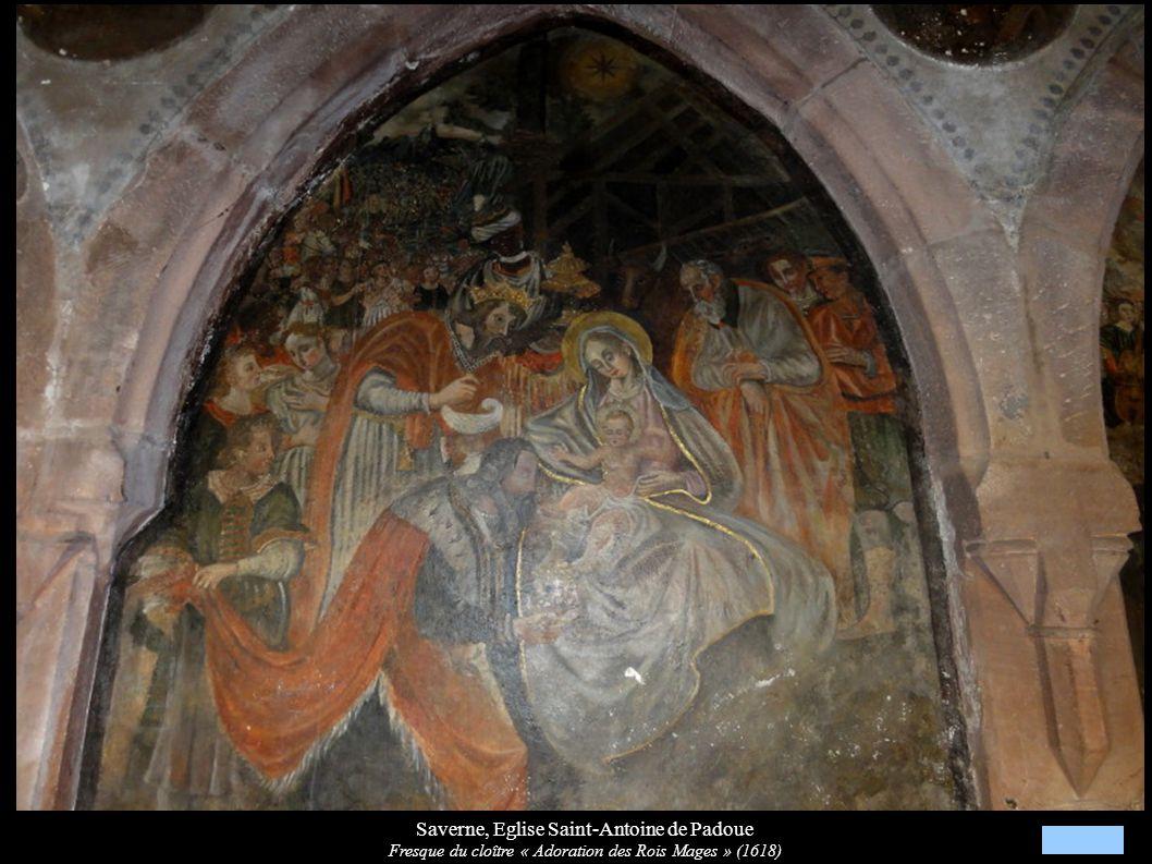 Saverne, Eglise Saint-Antoine de Padoue Fresque du cloître « Adoration des Rois Mages » (1618)