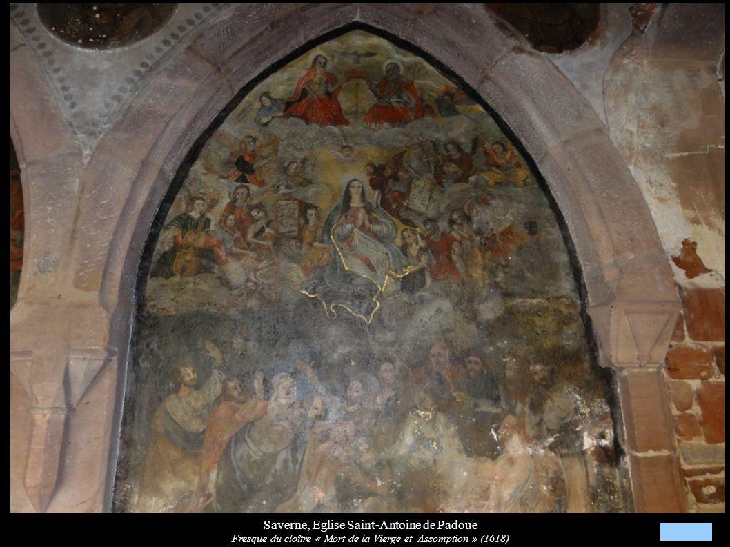 Saverne, Eglise Saint-Antoine de Padoue Fresque du cloître « Mort de la Vierge et Assomption » (1618)