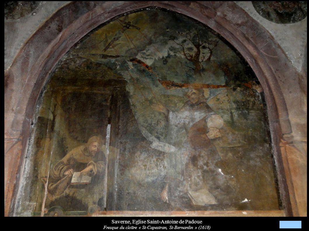 Saverne, Eglise Saint-Antoine de Padoue Fresque du cloître « St-Capestran, St-Bernardin » (1618)