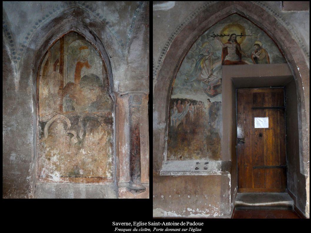 Saverne, Eglise Saint-Antoine de Padoue Fresques du cloître, Porte donnant sur l'église
