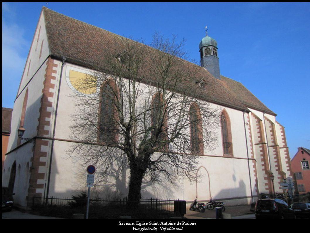 Saverne, Eglise Saint-Antoine de Padoue Vue intérieure de la nef vers la tribune d orgue