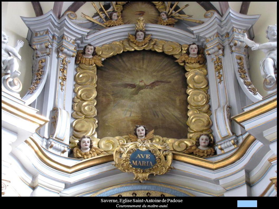 Saverne, Eglise Saint-Antoine de Padoue Couronnement du maître-autel