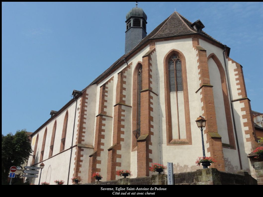 Saverne, Eglise Saint-Antoine de Padoue Côté sud et est avec chevet