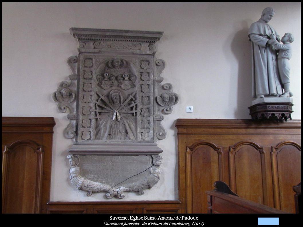 Saverne, Eglise Saint-Antoine de Padoue Monument funéraire de Richard de Lutzelbourg (1617)