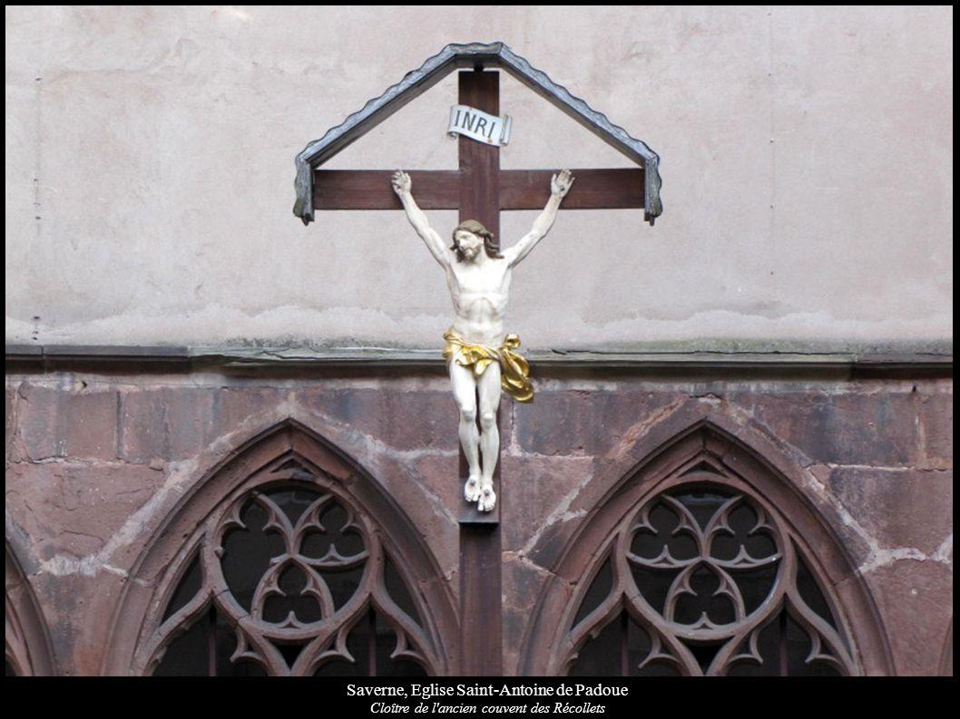 Saverne, Eglise Saint-Antoine de Padoue Fresques du cloître, Porte donnant sur l église