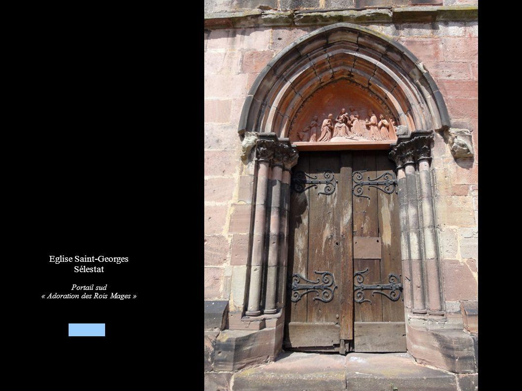 Eglise Saint-Georges Sélestat Portail sud « Adoration des Rois Mages »