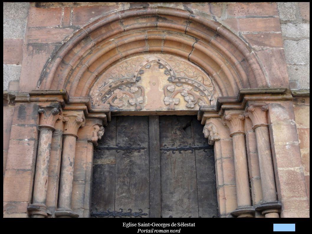 Eglise Saint-Georges de Sélestat Portail roman nord