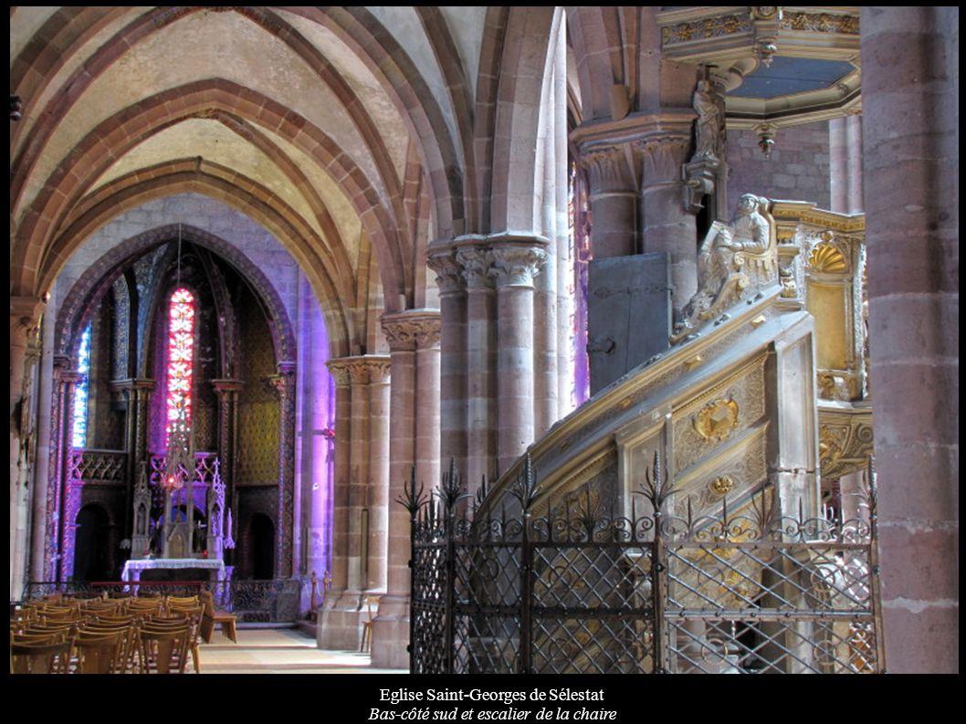 Eglise Saint-Georges de Sélestat Bas-côté sud et escalier de la chaire