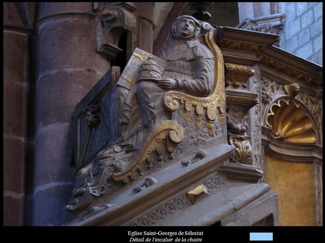 Eglise Saint-Georges de Sélestat Détail de l'escalier de la chaire