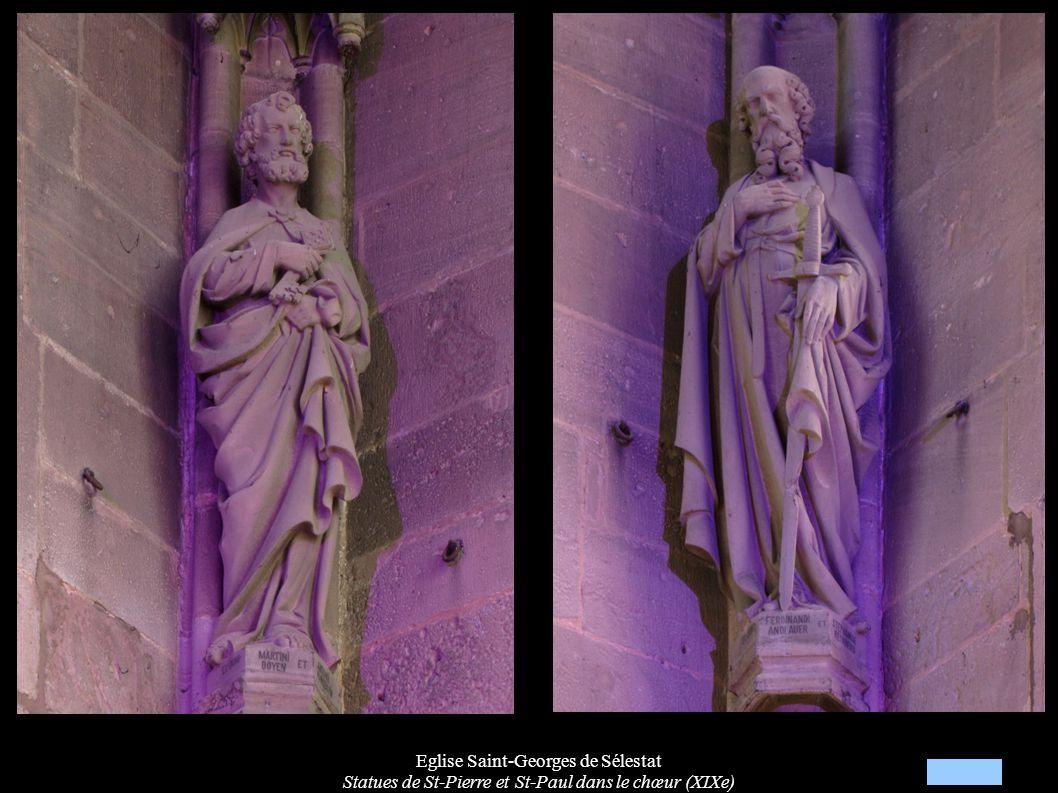 Eglise Saint-Georges de Sélestat Statues de St-Pierre et St-Paul dans le chœur (XIXe)