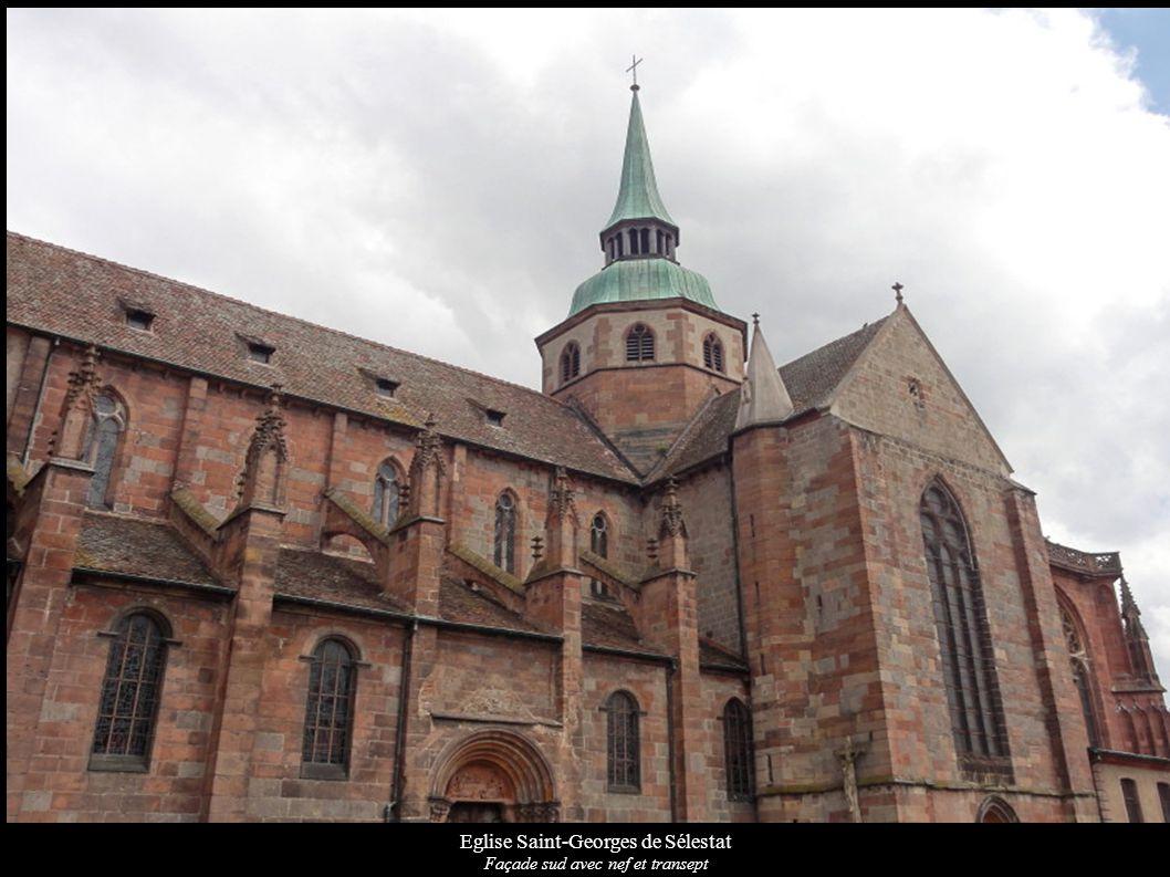 Eglise Saint-Georges de Sélestat Façade sud avec nef et transept