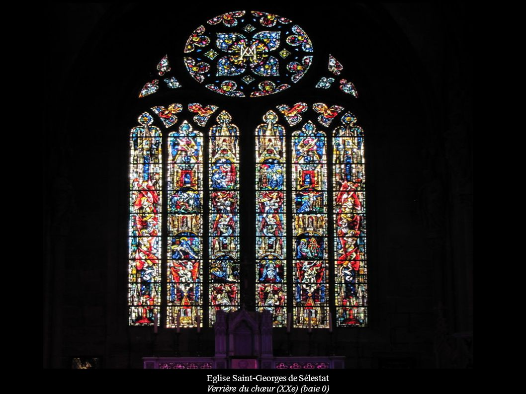 Eglise Saint-Georges de Sélestat Verrière du chœur (XXe) (baie 0)