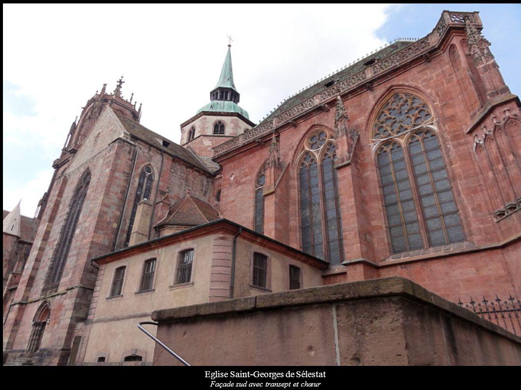 Eglise Saint-Georges de Sélestat Façade sud avec transept et chœur