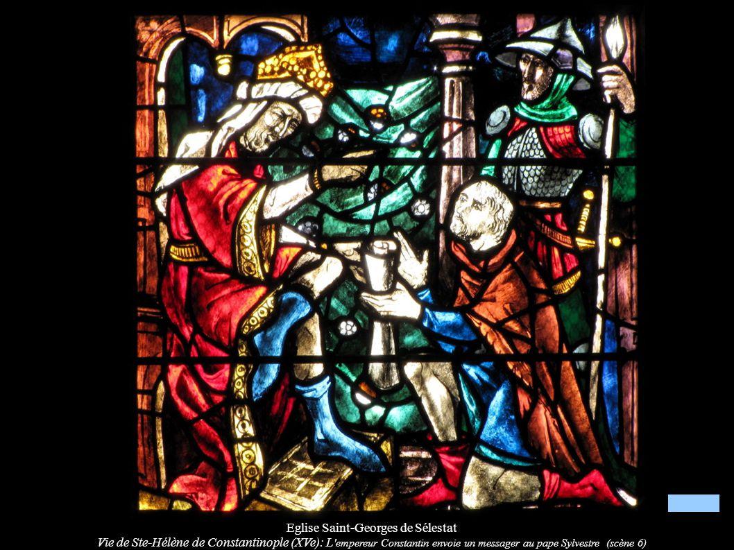 Eglise Saint-Georges de Sélestat Vie de Ste-Hélène de Constantinople (XVe): L 'empereur Constantin envoie un messager au pape Sylvestre (scène 6)