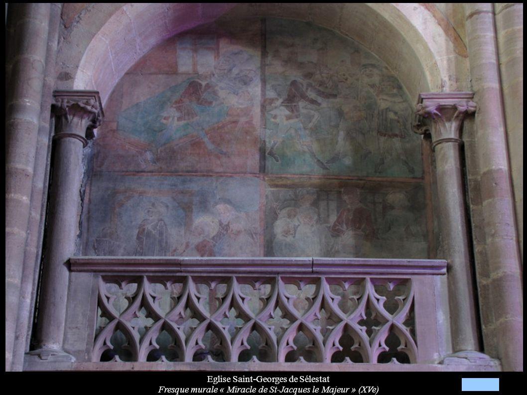 Eglise Saint-Georges de Sélestat Fresque murale « Miracle de St-Jacques le Majeur » (XVe)
