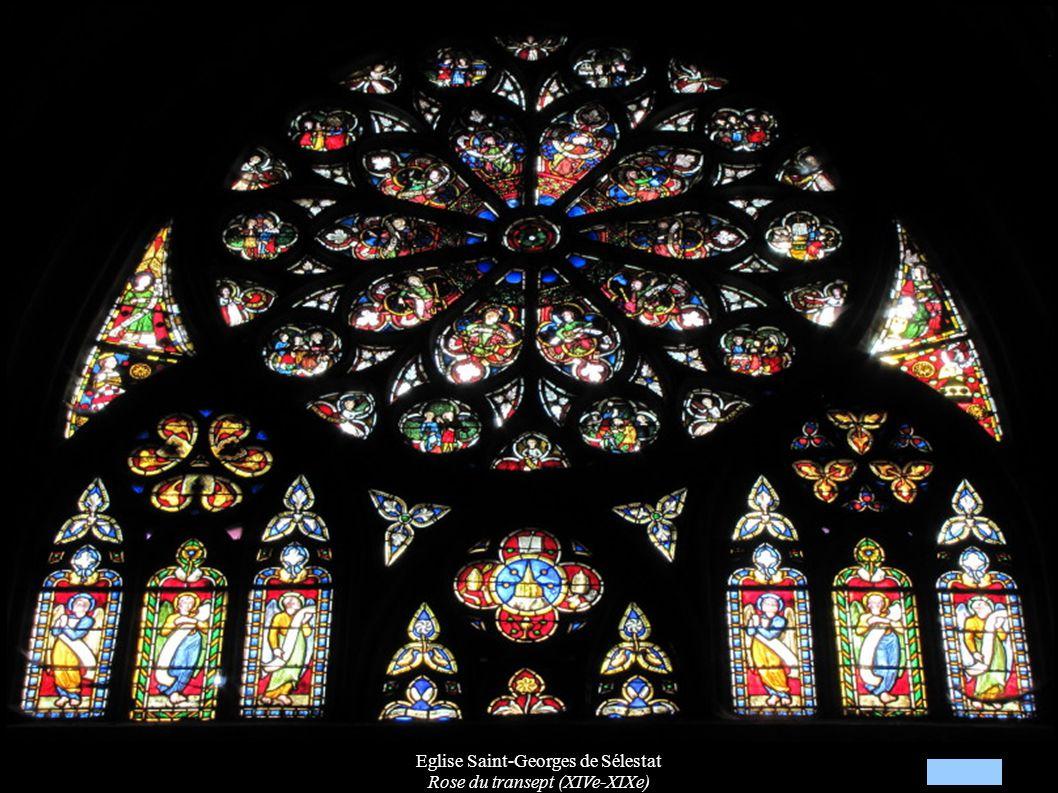 Eglise Saint-Georges de Sélestat Rose du transept (XIVe-XIXe)
