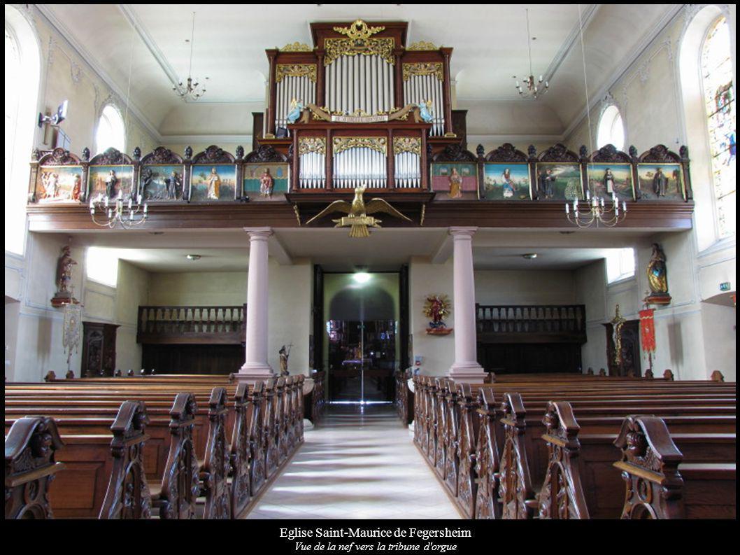 Eglise Saint-Maurice de Fegersheim Vue de la nef vers la tribune d'orgue