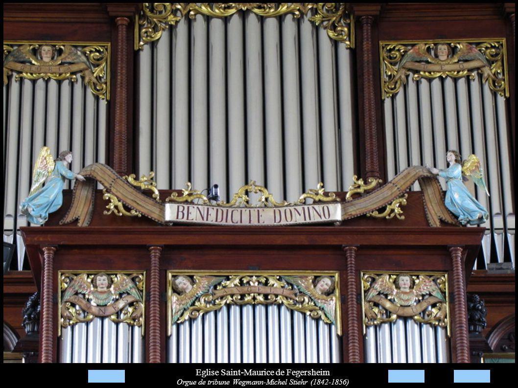 Eglise Saint-Maurice de Fegersheim Orgue de tribune Wegmann-Michel Stiehr (1842-1856)