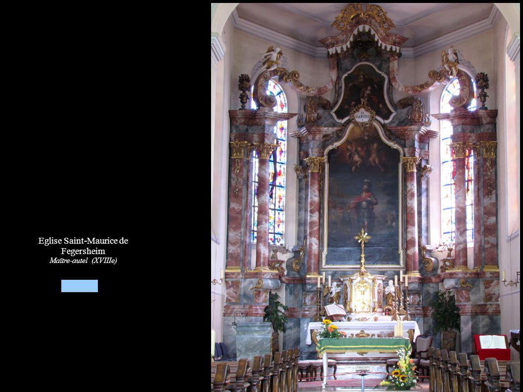 Eglise Saint-Maurice de Fegersheim Maître-autel (XVIIIe)