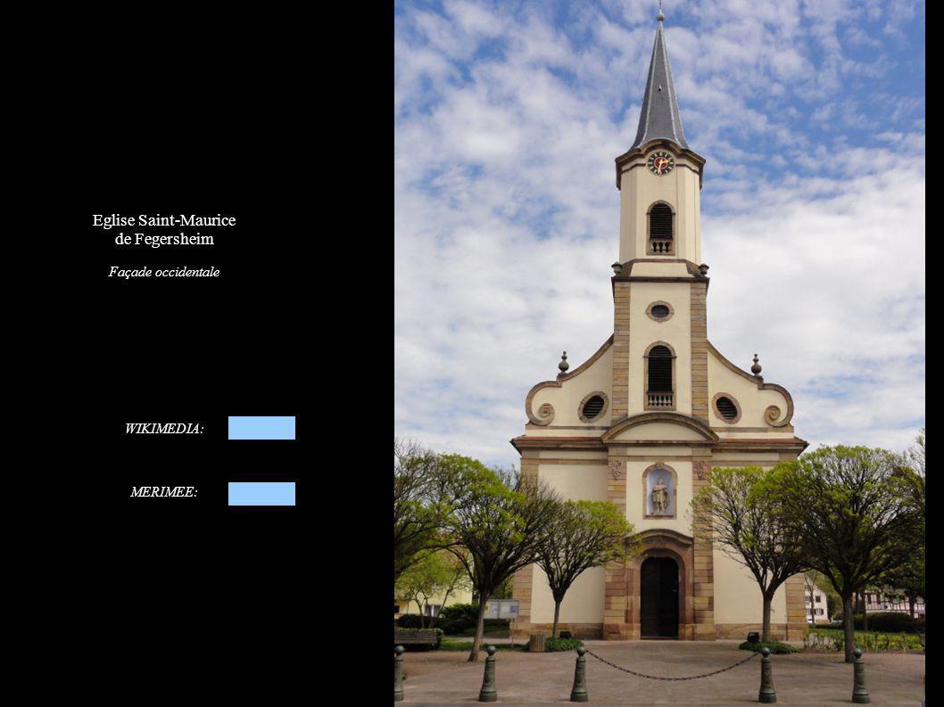 Eglise Saint-Maurice de Fegersheim Façade occidentale WIKIMEDIA: MERIMEE: