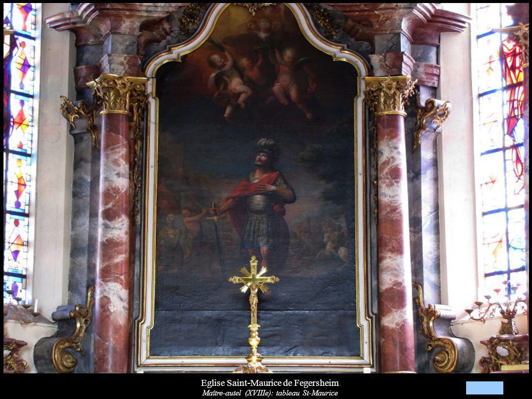 Eglise Saint-Maurice de Fegersheim Maître-autel (XVIIIe): tableau St-Maurice