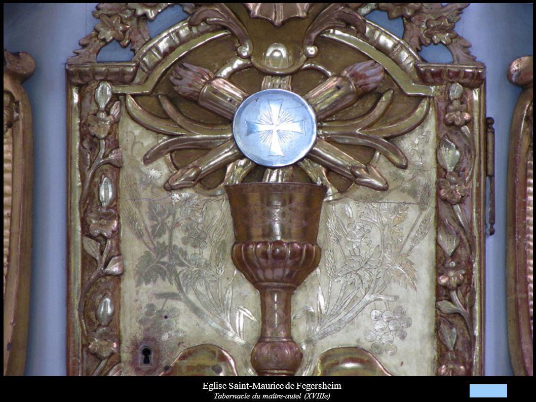 Eglise Saint-Maurice de Fegersheim Tabernacle du maître-autel (XVIIIe)