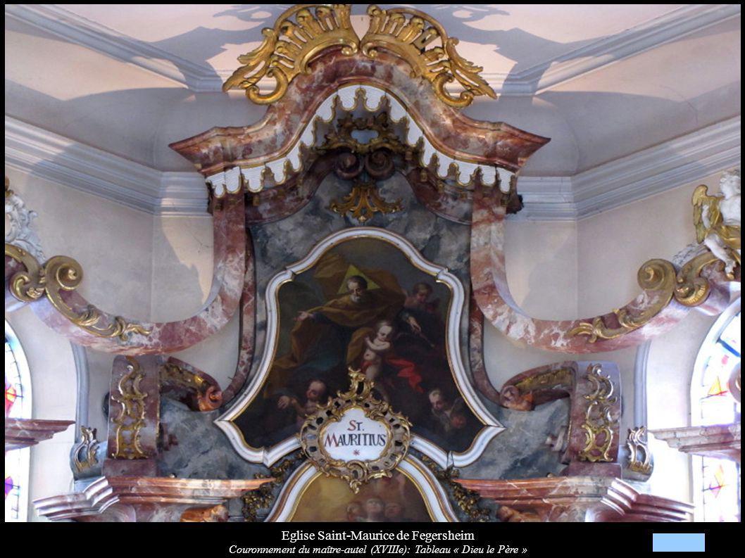 Eglise Saint-Maurice de Fegersheim Couronnement du maître-autel (XVIIIe): Tableau « Dieu le Père »