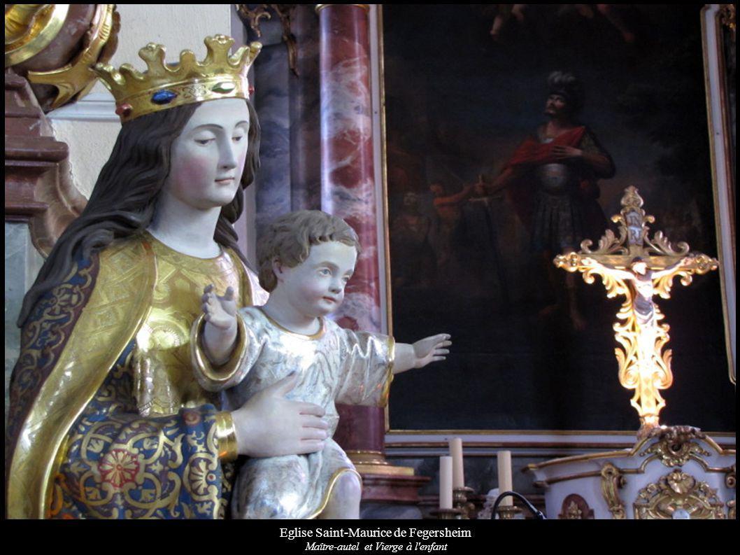 Eglise Saint-Maurice de Fegersheim Maître-autel et Vierge à l enfant