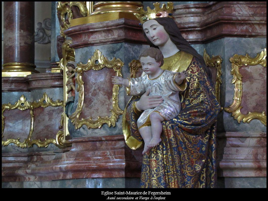 Eglise Saint-Maurice de Fegersheim Autel secondaire et Vierge à l enfant