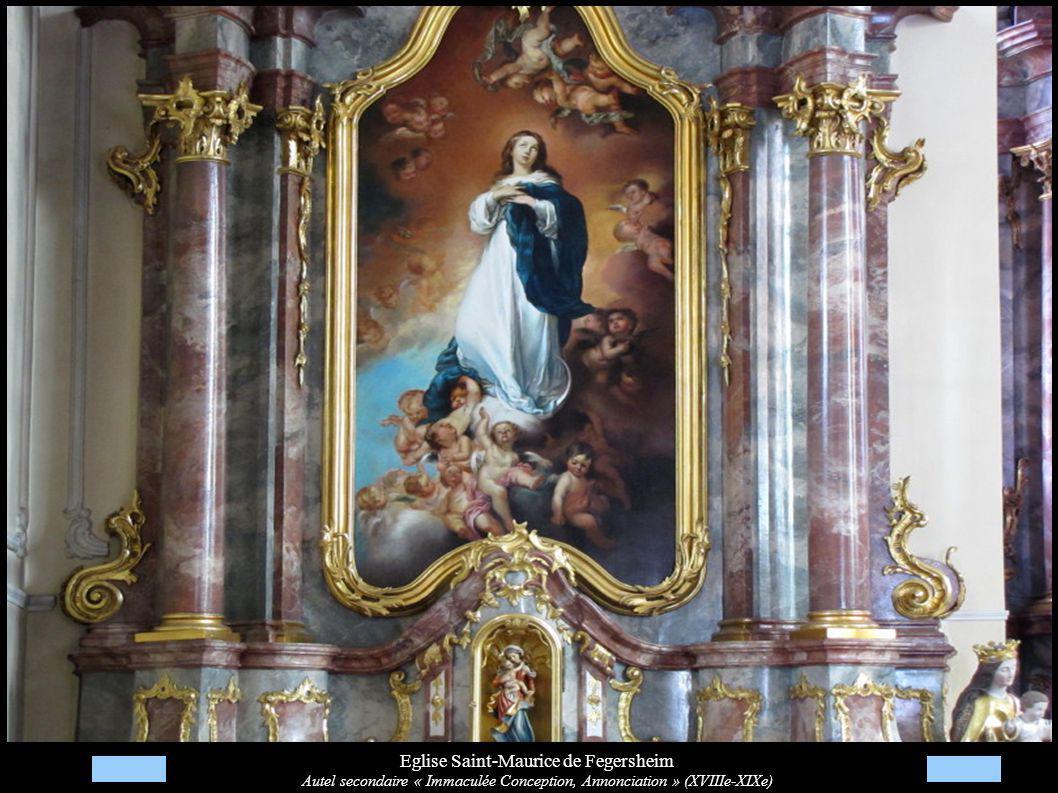 Eglise Saint-Maurice de Fegersheim Autel secondaire « Immaculée Conception, Annonciation » (XVIIIe-XIXe)