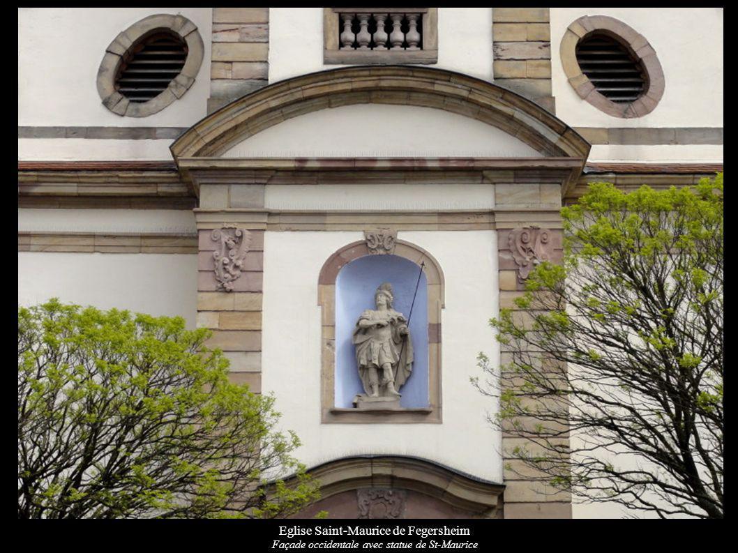 Eglise Saint-Maurice de Fegersheim Façade occidentale avec statue de St-Maurice