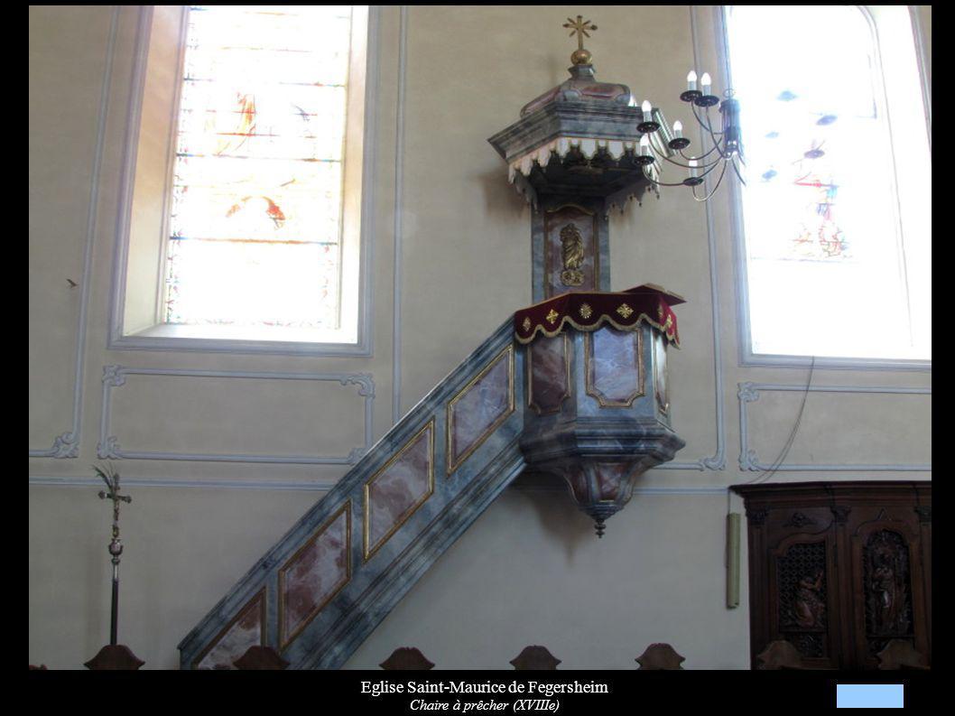 Eglise Saint-Maurice de Fegersheim Chaire à prêcher (XVIIIe)
