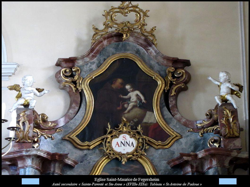 Eglise Saint-Maurice de Fegersheim Autel secondaire « Sainte-Parenté et Ste-Anne » (XVIIIe-XIXe): Tableau « St-Antoine de Padoue »